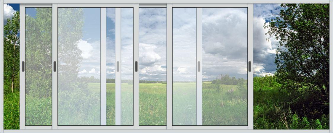 Ремонт раздвижной системы балконного окна..